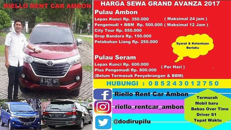 Rental Mobil Murah Ambon 0852 4301 2750